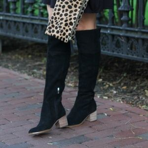 Marc Fisher wide calf over the knee suede boots